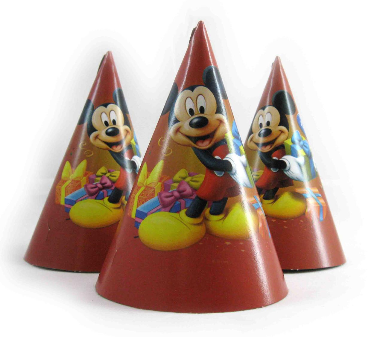 """Колпачок праздничный, маленький """" Микки Маус """"."""