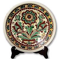 Тарелка керамическая декоративная