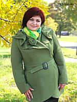 Пальто женское из кашемира больших размеров 5 видов размер 50,52
