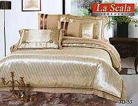 Комплект постельного белья шелковый жаккард La scala 3D-053