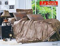 Комплект постельного белья шелковый жаккард La scala 3D-082