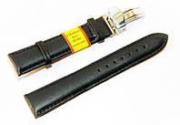 Кожаный ремешок для часов Modeno с клипсой (застежка-бабочка односторонняя) MDK2000BL-01 20 мм (Испания)