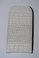 Чехол-книжка Crocco Classic Black для Samsung S5830 white