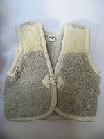 Качественная теплая детская жилетка на овчине (для мальчиков)
