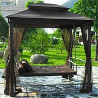 Садові качелі до 240 кг з протимоскітною сіткою з ПОДУШКАМИ