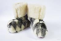 Чуни домашние на овчинной шерсти (№4)