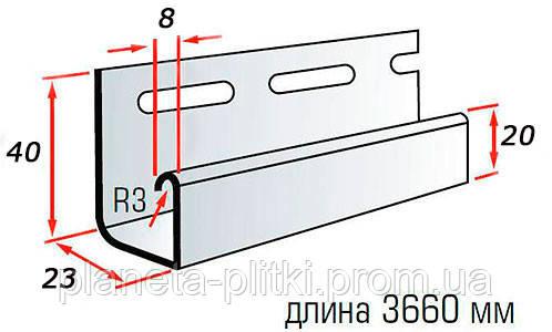 Планка J–trim BlockHouse. 3.66 м