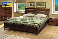 Кровать Мария, 1800х2000мм темный орех, деревянная