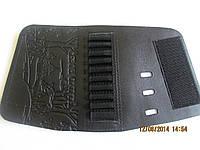 Патронташ-муфта на приклад кожаная на 10 патр.(7,62к)