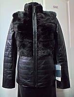 Куртка-жилет с норкой съемный рукав длина 65см. 46р 50р
