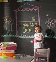 Декор детской комнаты при помощи наклеек для рисования мелом
