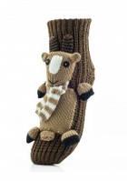 Женские носки - тапочки игрушка 3D Козленок  на подарок