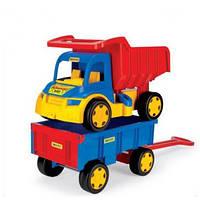 Большой игрушечный грузовик Wader - Гигант + тележка (65100)