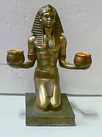 Подсвечник в египетском стиле на две свечи декоративный 20 сантиметров высота