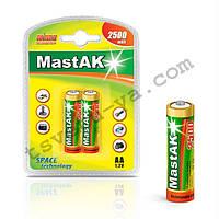 Аккумулятор фирменный повышенной емкости Mastak AA 2500 mAh для шокера, шокеров, электрошокеров, фонарика