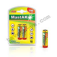 Аккумулятор фирменный повышенной емкости Mastak AA 2700 mAh для шокера, шокеров, электрошокеров, фонарика