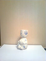 Экочеловечек Романтик из фарфора, компьютерная коллекция, подарок программисту
