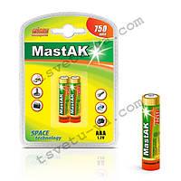 Аккумулятор фирменный повышенной емкости Mastak AAA 750 mAh для шокера, шокеров, электрошокеров, фонарика