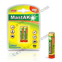 Аккумулятор фирменный повышенной емкости Mastak AAA 1000 mAh для шокера, шокеров, электрошокеров, фонарика