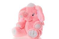 Мягкая игрушка Слон 55 см розовый, голубой