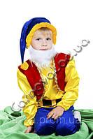 Шикарный карнавальный костюм Гном атласный