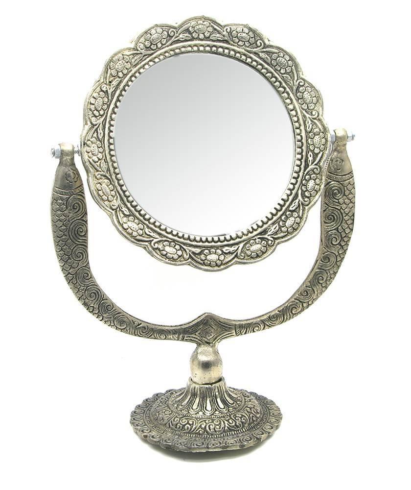 Зеркало настольное металл
