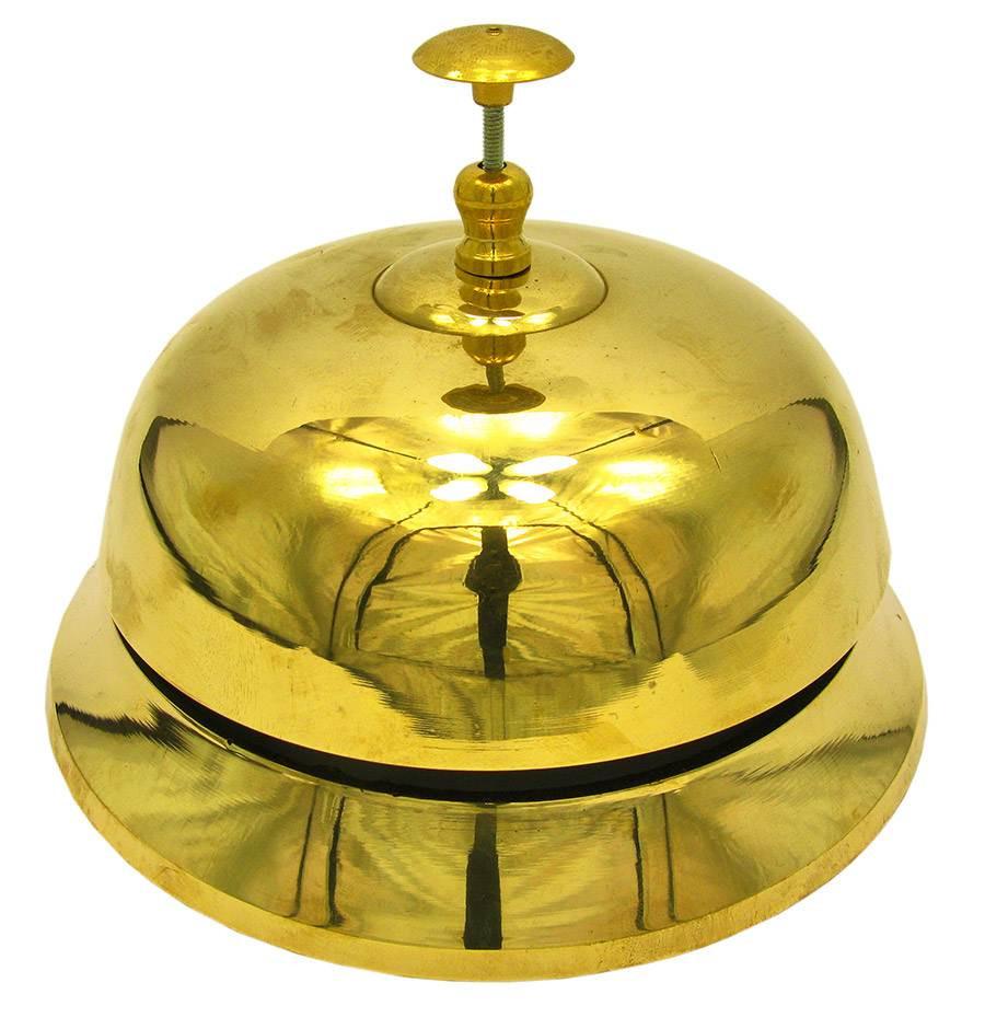 Колокольчик портье бронзовый