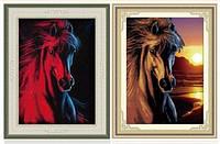 """Алмазная мозаика """"Лошадь красная"""" (набор рисования камнями)"""