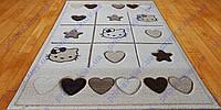 Ковер для детской комнаты hello kitty, Китти с сердечками, цвет беж. Коврик детский цена
