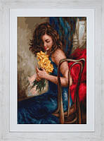 """Набор для вышивания нитками """"Желтые розы"""""""