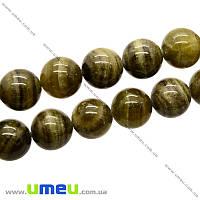 Бусина натуральный камень Нефрит, 18 мм, Круглая, 1 шт. (BUS-009964)