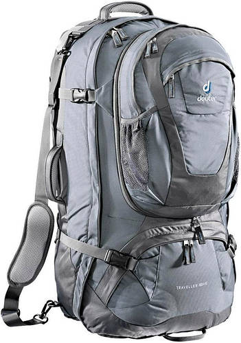 Сумка-рюкзак дорожная, сумка-трансформер 80+10 л. DEUTER TRAVELLER 80 + 10, 35149 4110 серый