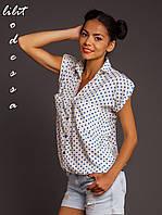 Блуза летняя на резинке белый