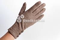 Кашемировые женские перчатки (капучино, 3 пуговки)