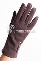 Кашемировые женские перчатки (шоколад,4 пуговки)