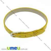 Основа для браслета Ремешок, Желтая, 8 мм, 22 см, 1 шт. (OSN-007516)