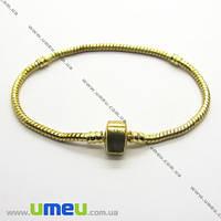 Основа для браслета PANDORA со стопперами, Золото, 20 cм, 1 шт. (OSN-004168)