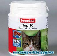 Beaphar Бифар Top 10 мультивитамины для кошек (180 шт.)