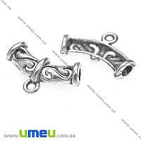 Основа для кулона Бейл, 23х14х5 мм, Античное серебро, 1 шт. (OSN-008509)