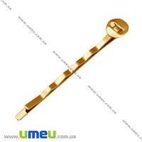 Основа мет. для заколки невидимка, 52 мм, Золото, 1 шт. (OSN-008078)