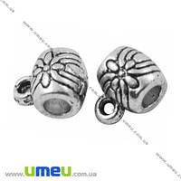 Основа для кулона Бейл, 8х6х6 мм, Античное серебро, 1 шт. (OSN-008488)