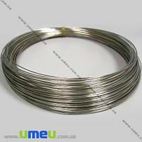 Основа для колье, Проволока с памятью, Темное серебро, 11,5 см, 0,6 мм, 1 виток. (OSN-002684)