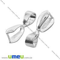Держатель для кулона, 20 мм, Светлое серебро, 1 шт (OSN-000470)