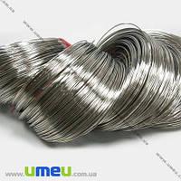 Основа для колье, Проволока с памятью, Темное серебро, 11,5 см, 1,0 мм, 1 виток (OSN-000468)