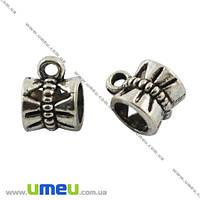Основа для кулона Бейл, 10х7х7 мм, Античное серебро, 1 шт. (OSN-003678)