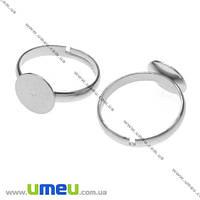 Кольцо под пластику, Темное серебро, 18,0 мм, 10 мм 1 шт. (OSN-004053)