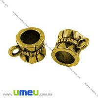 Основа для кулона Бейл, 10х7х7 мм, Античное золото, 1 шт.  (OSN-003677)