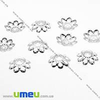 Обниматели, Светлое серебро, 10 мм, 20 шт. (OBN-007596)