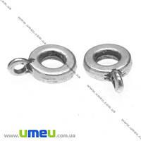 Основа для кулона Бейл, 11х3х8 мм, Античное серебро, 1 шт. (OSN-008512)