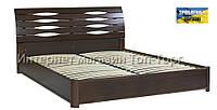 Кровать Мария с ПМ, 1800х2000мм темный орех, деревянная